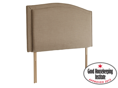 Rest Assured Lecce 4 6 Double Sandstone Fabric Headboard