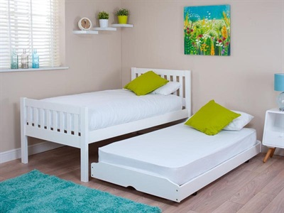 Silentnight Lena White Guest Bed 3 Single White Guest Bed Stowaway Bed