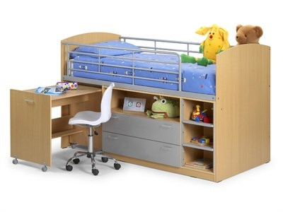 Julian Bowen Leo Sleeper 3 Single Natural Cabin Bed