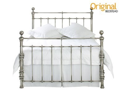 Original Bedstead Co Lerwick 4 6 Double Chrome Slatted Bedstead Metal Bed