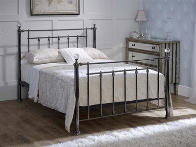 Limelight Libra Crystal 4 6 Double Black Chrome Metal Bed