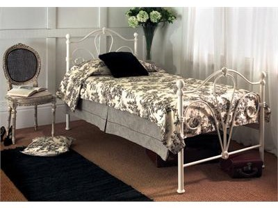 Limelight Nimbus 4 6 Double Ivory Slatted Bedstead Metal Bed