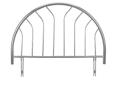 Julian Bowen Lola 3 Single Silver Headboard Only. Metal Headboard