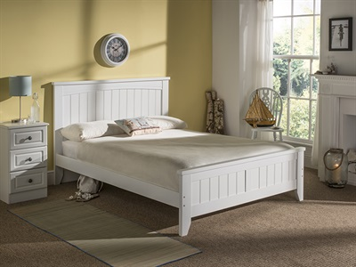 Snuggle Beds Lullaby 3 Single White Wooden Bed