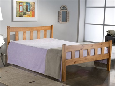 Birlea Miami 3 Single Natural Pine Wooden Bed
