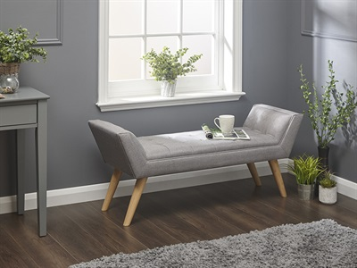 Product photograph showing Milan Upholstered Bench