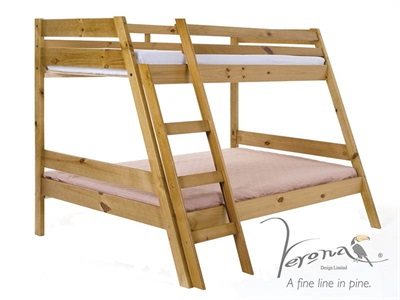Verona Design Ltd Marileva Triple Bunk Bed 4 Small Double Antique Triple Sleeper Bunk Bed