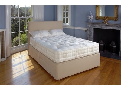 Relyon Balmoral (Soft) Divan Set 4 6 Double Platinum 3297 Pocket Sprung - No Drawers Divan
