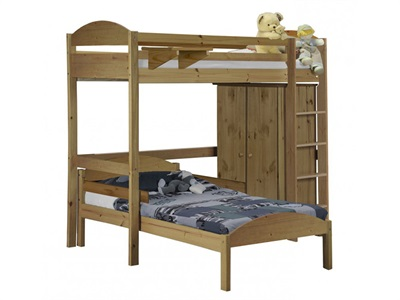 Verona Design Ltd Maximus L Shape High Sleeper Set 1 3 Single Antique High Sleeper with Bed Frame High Sleeper