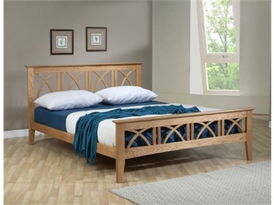 Ecofurn Meadow 5 King Size Natural Slatted Bedstead Wooden Bed