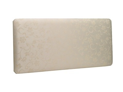 New Design Madison Leather 3 Single White Faux Leather Leather Headboard