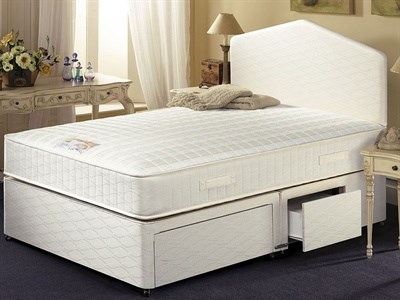 AirSprung Melinda 4 6 Double Platform Top - No Drawers Divan