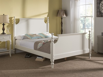 Snuggle Beds Melody 3 Single White Wooden Bed
