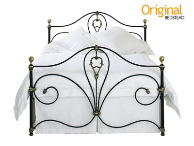 Original Bedstead Co Melrose Headboard 4 6 Double Glossy Ivory Metal Headboard
