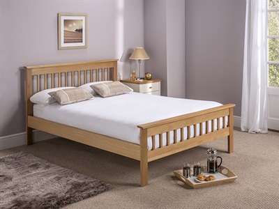 Home Comfort Millwood  5' King Size Natural Wooden Bed