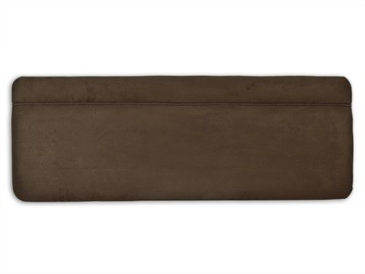 New Design Katie - Mocha 4 Small Double Mocha Faux Suede Fabric Headboard