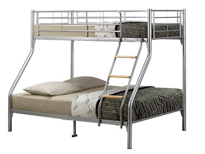 Birlea Nexus Bunk 4 6 Double Silver Bunk Bed