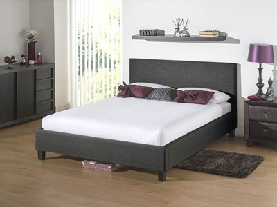 Snuggle Beds Newbury Dark Grey 4 6 Double Dark Grey Fabric Bed