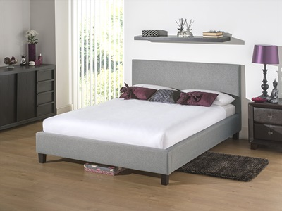 Snuggle Beds Newbury Light Grey 4 6 Double Fabric Bed
