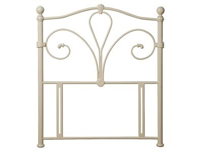 Limelight Nimbus 4 6 Double Ivory Metal Headboard