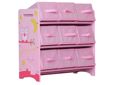 Kidsaw Owl & Pussycat 9 Bin Storage Drawer Chest