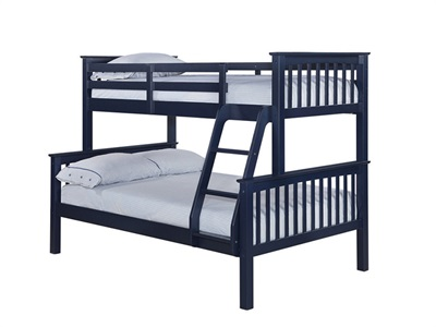 Furniture Express Otto Trio Bunk Navy  4 Small Double Bunk Bed