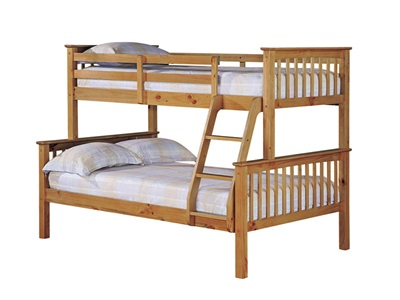 Furniture Express Otto Trio Bunk Pine 4 Small Double Bunk Bed