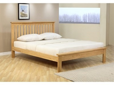 Ecofurn Orchard 5 King Size Natural Slatted Bedstead Wooden Bed