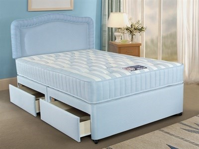 Simmons Bedding Group Cumfilux Ortholux 4 6 Double Platform Top - 4 Drawers Divan