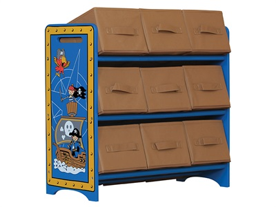 Kidsaw Pirate 9 Bin Storage Drawer Chest
