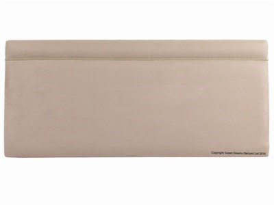 Sweet Dreams Brussels 4' Small Double Faux Suede Stone Fabric Headboard