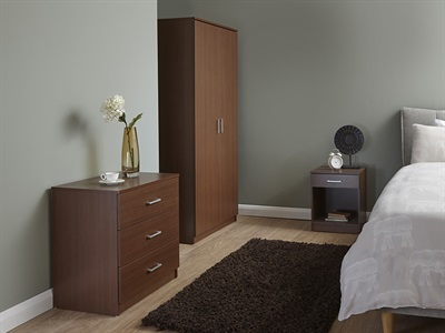 GFW Panama Walnut 3-Piece Bedroom Set Bedroom Set