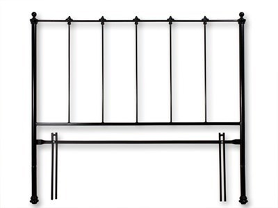 Original Bedstead Co Paris Headboard only 3 Single Glossy Black Headboard Only Metal Headboard
