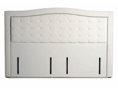 Hypnos Paris - Euro Wide 4 6 Double Imperio Biscuit Headboard Only Fabric Headboard