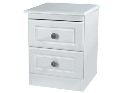 Furniture Express Pembroke 2 Drawer Locker White 2 Drawer Bedside Chest
