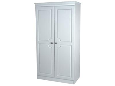 Furniture Express Pembroke 3ft Plain Robe White 2 Door Wardrobe