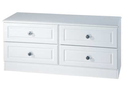 Furniture Express Pembroke 4 Drawer Bed Box White 4 Drawer Drawer Chest
