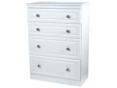 Furniture Express Pembroke 4 Drawer Deep Chest White 4 Drawer Chest Drawer Chest