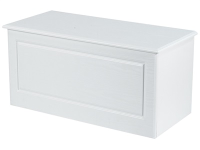 Furniture Express Pembroke Blanket Box White Assembled Blanket Box