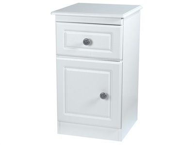 Furniture Express Pembroke Door Locker White Assembled Bedside Chest
