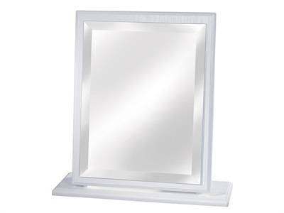 Furniture Express Pembroke Small Mirror White Assembled Mirror
