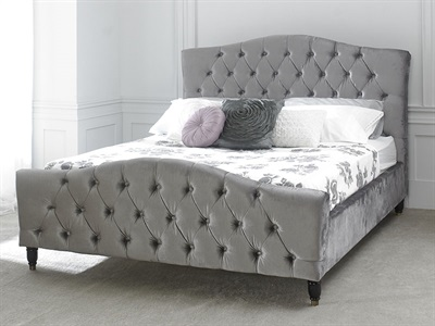 Limelight Phobos Silver 4 6 Double Fabric Bed
