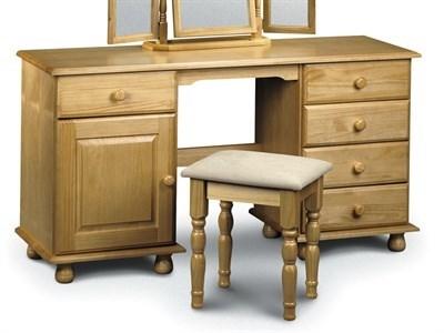Julian Bowen Pickwick Twin Pedestal Dressing Table Flat Packed Dressing Table