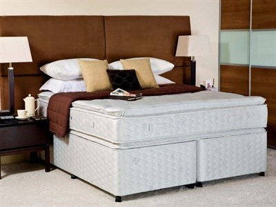 Sealy Contract Pillow Coniston 4 6 Double Platform Top - No Drawers Divan