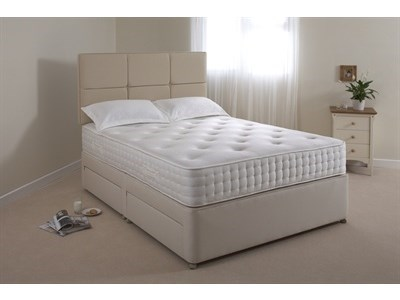 Relyon Pocket Memory Ultima 4 6 Double Truffle 3280 Padded Top - No Drawers Divan
