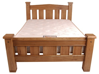 Balmoral Michigan 4 6 Double Antique Bed Frame Only Wooden Bed