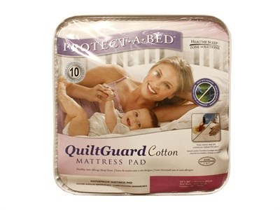 Protect_A_Bed Quilt Guard Cotton Protector 3 Single Protector