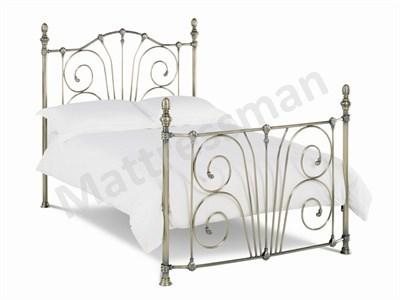Bentley Designs Rebecca 4 6 Double Antique Nickel Slatted Bedstead Metal Bed