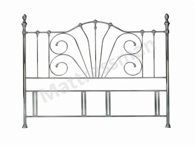 Bentley Designs Rebecca Nickel 5 King Size Nickel Headboard Only Metal Headboard