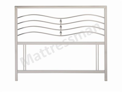 Bentley Designs Revo 3 Single Nickel Headboard Only. Metal Headboard